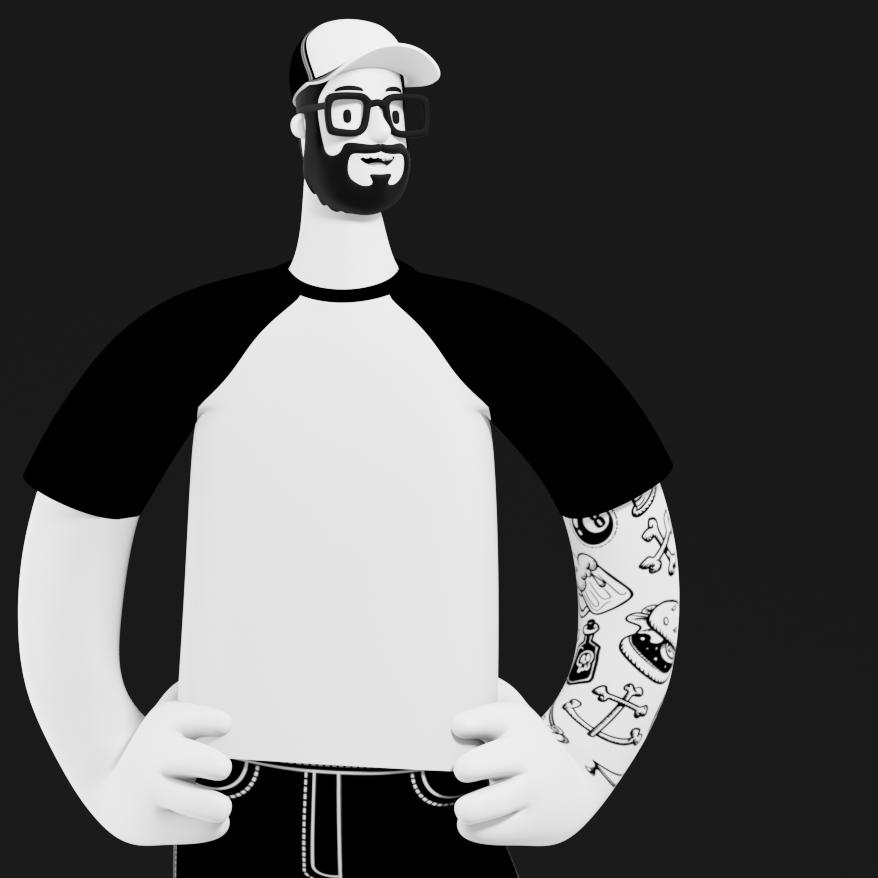 Skater 3D tatoo